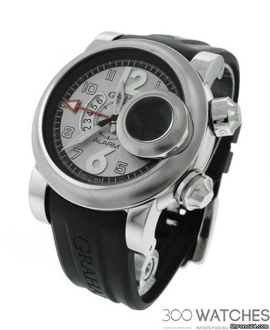 Graham Silver Dial Swordfish GMT Alarm Watch