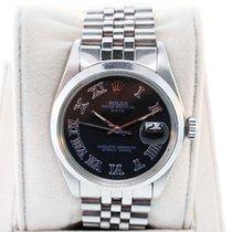 Rolex Date 115200 Gents Steel Black Roman Numeral Dial Watch