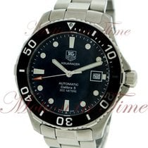 TAG Heuer Aquaracer Calibre 5 Automatic, Black Dial - Stainles...