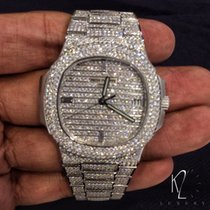Patek Philippe 5719/1g Nautilus white gold diamond paved