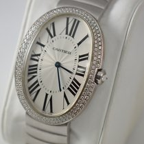 Cartier Baignoire 18KWG Large Size Two-Row Diamond Bezel