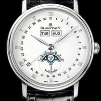 Blancpain [NEW] VILLERET STAINLESS STEEL WHITE AUTOMATIC...
