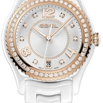 Ebel X-1 Silver Diamond Dial 18Kt Rose Gold and Steel Ladies...