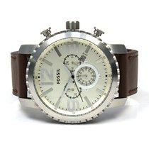 Fossil Herren Armbanduhr Stahl/Leder BQ1177
