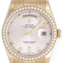 Rolex President Day-Date Men's Watch Factory Diamond Bezel...