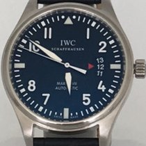 IWC Pilots Mark XVII Black Crocodile embossed leather Band