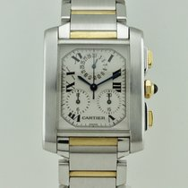 Cartier Tank Francaise Chronoflex Quartz Steel and 18K Gold 2303