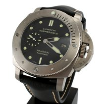 Panerai PAM00305 Luminor Submersible Titanium Men's Watch...