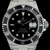 Rolex Stainless Steel O/P Black Dial Submariner Date 16610