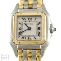 Cartier Uhr Panthere Stahl /750er Gold 3 Streifen Gold Damen...