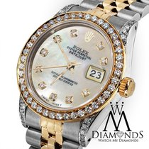 Rolex Ladies 78273 Datejust 2 Tone 31mm White Mother Of Pearl...