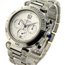 Cartier W31030H3 38mm Pasha Chronograph - Automatic - Steel on...