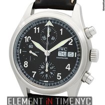 IWC Pilot Collection Pilot Chronograph Black Spitfire Dial...