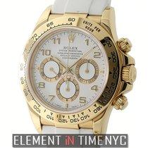 Rolex Daytona 18k Yellow Gold White Dial Zenith Movement Circa...