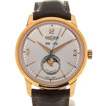 Vulcain 50s Presidents' Moonphase 42 Pink Gold Silver-tone...