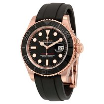 Rolex Yacht-Master Automatic Black Dial 18kt Everose Gold 116655