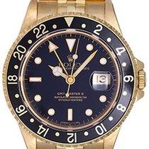 Rolex GMT-Master II 18K Yellow Gold Men's Watch 16718...