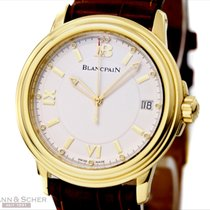 Blancpain Léman Ultra Slim Automatic Ref-2100-1418 18k Yellow...