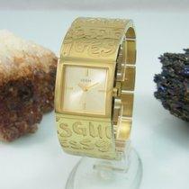 Guess Scribble Damenuhr Vergoldet Ladies W95096l1