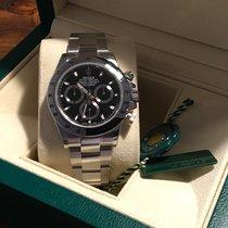 Rolex Daytona Stahl  Schwarzes Zifferblatt  NEU  LC 100  2016
