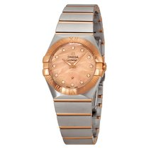 Omega Constellation Stainless Steel 18kt Rose Gold Ladies...