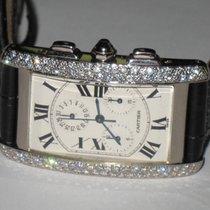 Cartier Tank Americaine American Chronograph 18K White Gold...