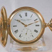 IWC 14kt Gold Savonette Taschenuhr