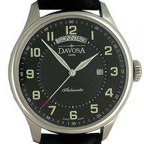 Davosa Pares Classic Day-Date Stahl Automatik Armband Leder 44mm