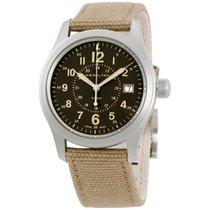 Hamilton Khaki Field Brown Dial Canvas Strap Men's Watch...