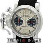 Graham Chronofighter R.A.C.  Silver Fighter 43mm Steel Panda...