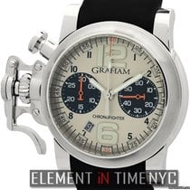 Graham Chronofighter R.A.C.  Silver Fighter 43mm Steel Panda Dial