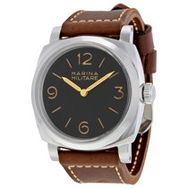 Panerai Radiomir 1940 Black Dial Hand Wound Brown Leather...