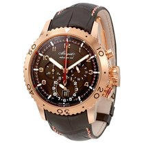 Breguet Transatlantique Type XXII Flyback Brown Dial Men's...