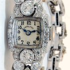 Hamilton Ladies Platinum & 3.35 CT Diamond Watch