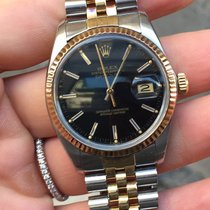 Rolex DateJust oro gold acciaio steel scatto rapido plexy