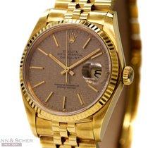 Rolex Vintage Datejust Man Size Ref-16018 18k Yellow Gold Box...