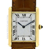 Cartier 18k yellow gold Gent's Tank Classic