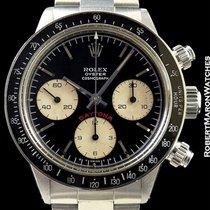 Rolex 6263 Big Red Daytona Black Sigma Dial Steel Box &...
