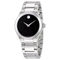 Movado Defio Black Dial Stainless Steel Mens Watch 0606333