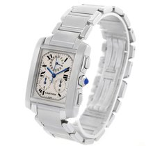 Cartier Tank Francaise Stainless Steel Chronoflex Watch W51001q3