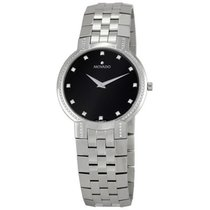Movado Faceto Black Dial Stainless Steel Mens Watch 0606237