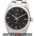Rolex Oyster Precision 34mm No-Date Black T Swiss Dial R...