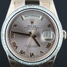 Rolex Day Date all Rose Gold 36mm with diamond set bezel 118235F