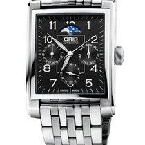 Oris Rectangular Complication, Date, Black Dial, Steel