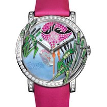 Boucheron Crazy Jungle Flamingo in White Gold with Diamonds