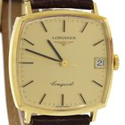 Longines Conquest Solid 18k Yellow Gold Manual Wind 31mm Date...