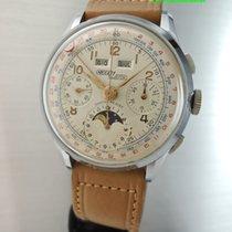 Nicolet-watch Vollkalender Chronograph Mondphase Valjoux 88 -NOS