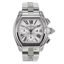Cartier Roadster Chronograph Xl W62020x Stainless Steel Silver...