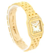 Cartier Panthere Yellow Gold Mother Of Pearl Diamond Watch...