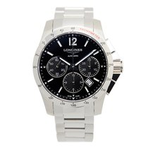 Longines Conquest Stainless Steel Black Automatic L2.743.4.56.6